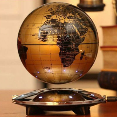 Magnetic Levitation Maglev Levitating Floating Globe World Map LED Decor Light