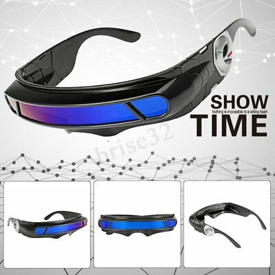 e27623340d Futuristic Space Alien Costume Party Cyclops Robot Wrap Shield Sun Glasses  Visor
