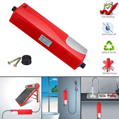 3000W Instant Electric Indoor Tankless Water Heater for Kitchen Bathroom EU Plug