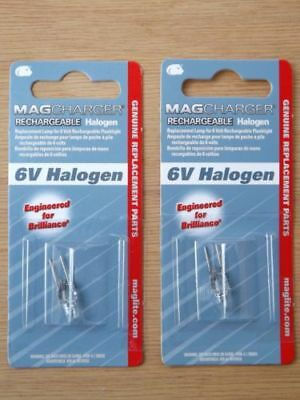 Lot of 2 Maglite LR00001 Halogen 6 V Bulb for Rechargeable Mag Flashlight