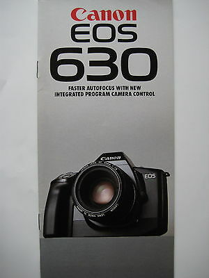 Canon EOS 630 35mm film camera sales brochure - 1989 - 32 pages