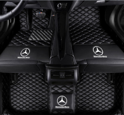 Car floor mats all Mercedes benz W204 W205 C180 C200 C300 C350 knitting LOGO