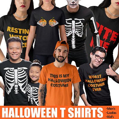 Halloween Funny T Shirts Skeleton Pumpkin Witch Scary Costume Novelty T Shirt