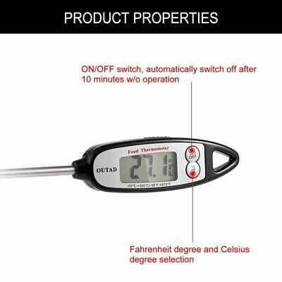 OUTAD Digital Cooking Thermometer Pen-style LCD Display Instant Read Compact MG