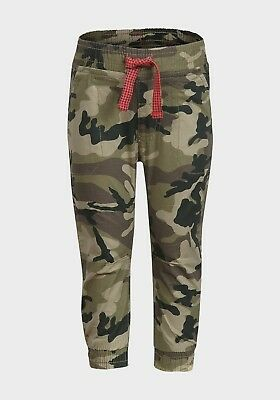 BOYS kids childs camouflage combat canvas trousers jeans 2-3-4 years cotton