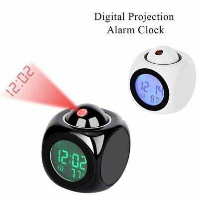Multi function Alarm Clock Digital LCD Voice Talking LED Projection Time Display
