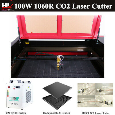 """100W CO2 Laser Engraving Cutting Machine Engraver Cutter 37″x23"""" CW5000 Chiller"""