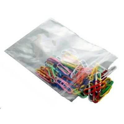 Snap Seal Plain Polythene Bags Various Sizes Small 38x64 to Large 254 x 356mm