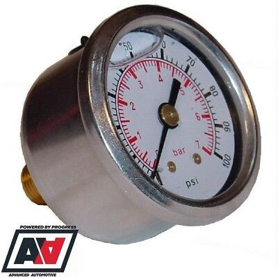 Sytec Fuel Injection Pressure Gauge 1/8 NPT 1-7 BAR Power Boost Valve Setup ADV
