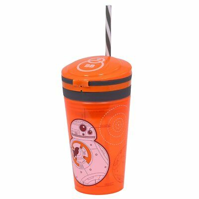 Official Star Wars BB8 Kids Drinks Bottle with Straw and Snack Pot (V8f)