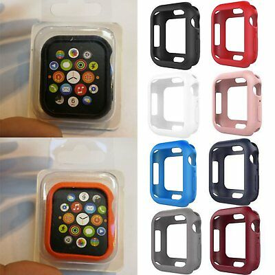 Silicone Gel Protective Case Cover Custodia Per Apple Watch Series 4 40mm 44mm