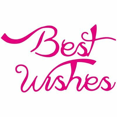 CraftStash Metal Hot Foil Stamp Best Wishes Sentiment | 92mm x 55mm