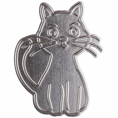 CraftStash Metal Hot Foil Stamp Cat | 85mm x 65mm