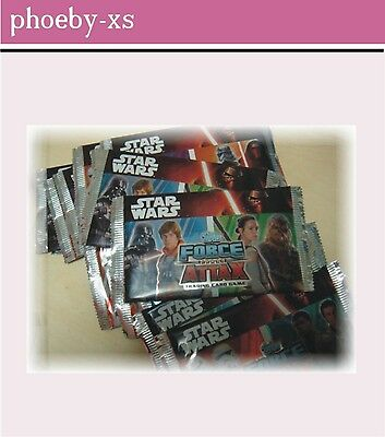 8 Booster/Tütchen = 40 Karten Star Wars Force Attax Trading Card Game topps OVP*