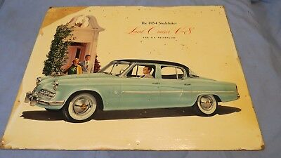Vintage Original 1954 Studebaker Land Cruiser V-8 For 6 Passengers Dealer Poster