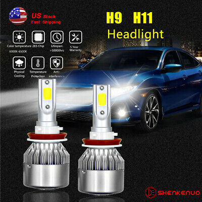 2x H11 Low Beam Led Headlight Bulbs For Honda Accord 2008 2017 Pilot 2006