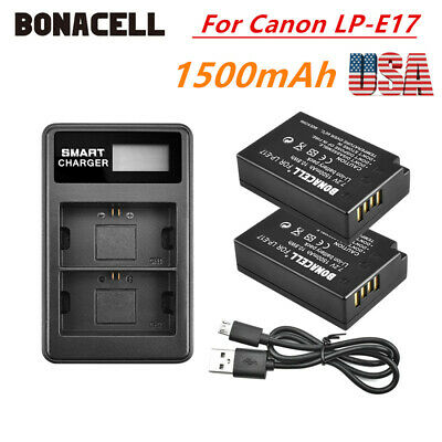 2 PACK LP-E10 Battery & Dual Charger For Canon Rebel T3 T5 T6 EOS 1100D 1200D MP
