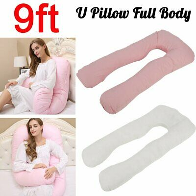 9Ft U Body/Bolster Support Maternity Pregnancy Support Pillow and/or Cover Case