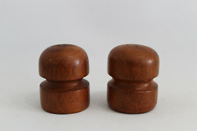 Danish Modern Design Salz- & Pfefferstreuer Teak Salt & Pepper Shaker Mushroom
