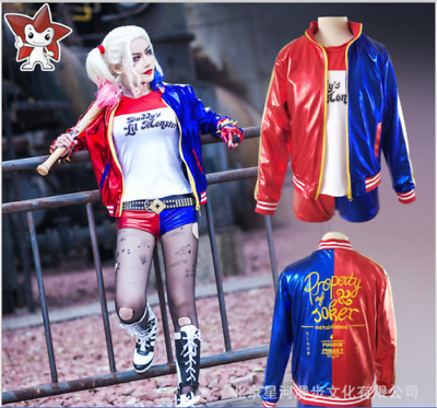 Adult/Kid Suicide Squad Harley Quinn Girl's Cosplay Costume Outfit Fancy Suits