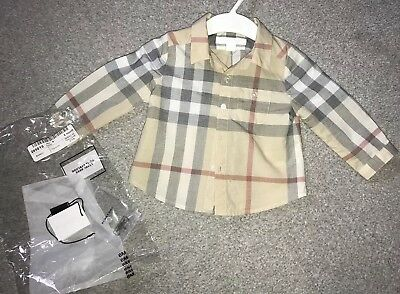 Baby Burberry Shirt 6 Months Old (Tags Included)