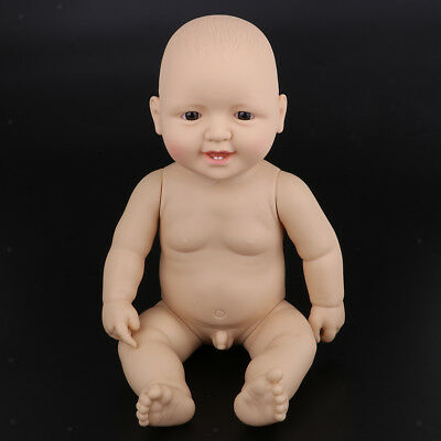 Flexible Reborn Doll Soft Silicone Baby Doll Lifelike Alive Babies Gift 48cm
