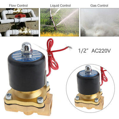 1/2'' AC 110/220V Brass Electric Solenoid Valve with Two-way Two-position
