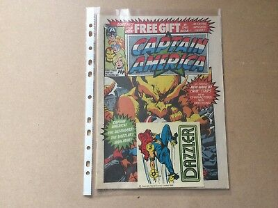 Vintage Marvel Captain America Uk Weekly Comic Issue 2 With Free Gift Sticker