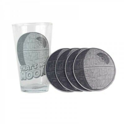 Star Wars Death Star Glass /& 4 Coasters Boxed Sci Fi Fans Official Merchandise