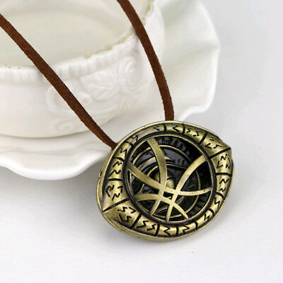Dr. Doctor Strange Pendant Eye of Agamotto Chain Necklace Cosplay Marvel Alloy