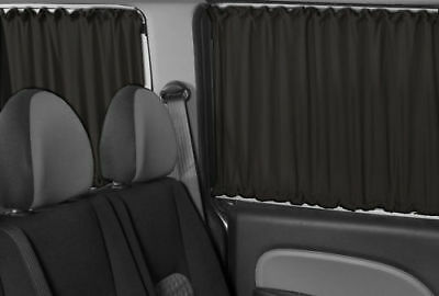 Vw T4 Transporter Only For 3 Windows  Rear Interior Sun Shades Curtains Black