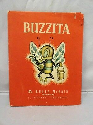 Buzzita Humanized Bumble Bees Book Rare Illustrated 1948 Children's Hardcover