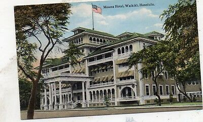 Moana Hotel  Waikiki  Honolulu  Hawaii  Hawaiian Islands