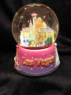 Snow Globe - LAS VEGAS - city skyline, landmarks, plays music, Sanyo