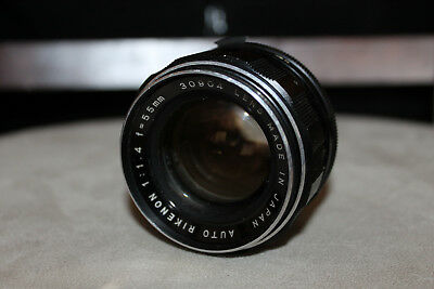 AUTO RIKENON 1:1.4 f=55mm 30904 lens made in Japan