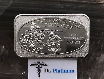USSC, 1973 California Gold Discovery, 1 oz 999 Silver Art Bar - DPSAB13