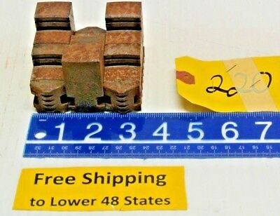 Set Of 3 Chuck Jaws With Holding Block Machine Shop Tool Free Shipping