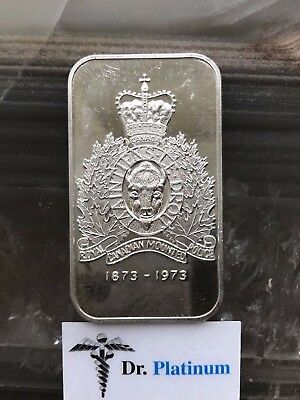 1973 Royal Canadian Mounted Police, 1 oz 999 Silver Art Bar - DPSAB27
