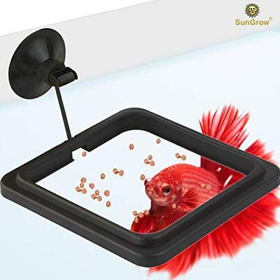 SunGrow Betta Feeding Ring - Reduces Wastage & Maintains Water Quality, AOI