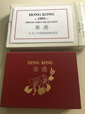 1993 HONG KONG 7 COIN PROOF SET first issue returning to China