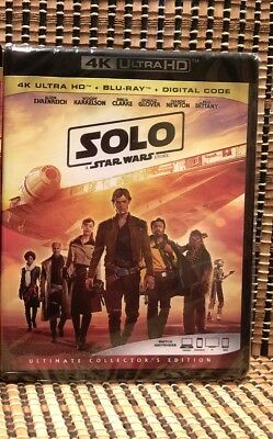 Star Wars: Solo 4K (3-Disc Blu-ray, 2018)+Slipcover.Disney/Han/Ron Howard