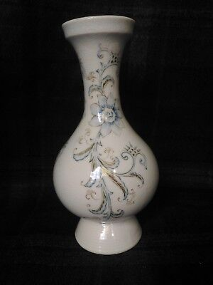 Antique Beautiful Chinese Crackle Glaze vase with blue flowers