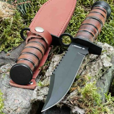 11.93in KANDAR 2925 FIXED BLADE KNIFE HUNTING A.
