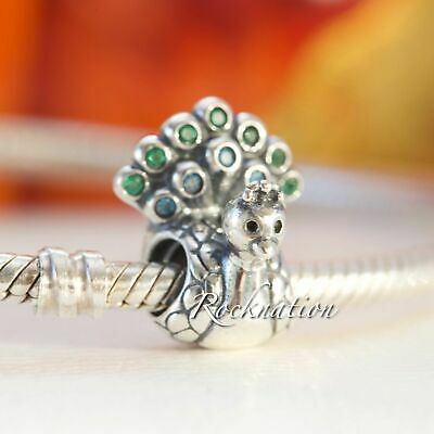 0eefd654c Authentic Pandora Charm Peacock Teal & Green CZ Sterling Silver 791227MCZ
