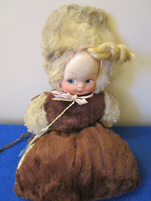Vintage Little Girl'S Dolly Muff W/label