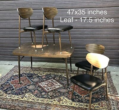 VINTAGE - Mid Century Modern - VIKO BAUMRITTER - Dining Table & 4 Chairs -
