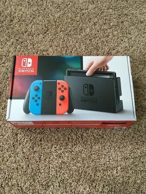 Nintendo Switch 32GB console neon blue red joy con brand new