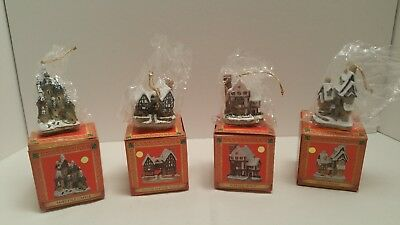 David Winter Cottages Christmas Ornaments Assortment Mint In Original Boxes