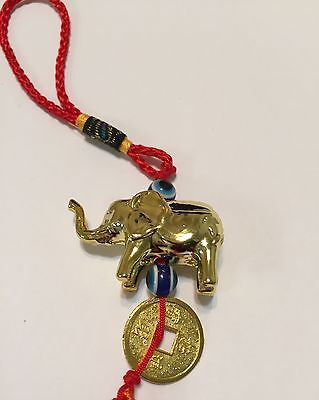 Feng Shui Chinese Oriental Good Luck Door/Car Charm Elephant Amulet Tassel