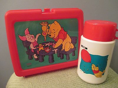 Winnie the Pooh Plastic Lunchbox with Thermos